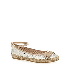 bluezoo - Girl's gold glittery espadrille shoes