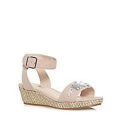 bluezoo - Girl's pale pink jewel strap wedges