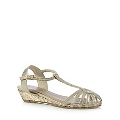 bluezoo - Girl's gold caged wedge sandals