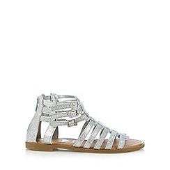 bluezoo - Girl's silver glittery gladiator sandals