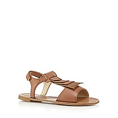 bluezoo - Girl's tan fringed sandals