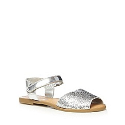 bluezoo - Girl's silver glitter strap sandals