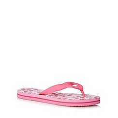 bluezoo - Girl's pink flamingo flip flops