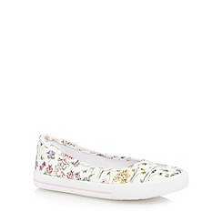 bluezoo - Girl's cream floral pumps