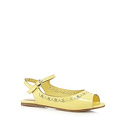 bluezoo - Girl's yellow patent cutout pumps