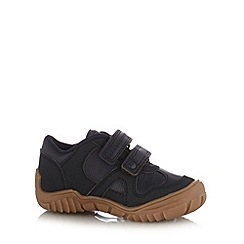 bluezoo - Boy's navy two tab trainers