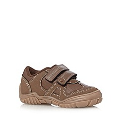 bluezoo - Boy's brown two tab trainers