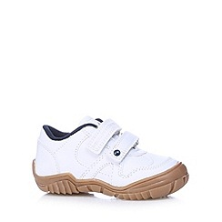 bluezoo - Boy's white two tab trainers