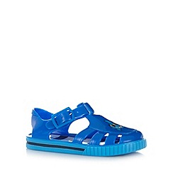 bluezoo - Boy's blue shark print jelly sandals