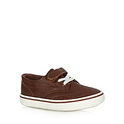 bluezoo - Boy's brown brogue trainers