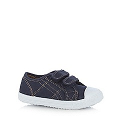 bluezoo - Boy's navy two tab shoes
