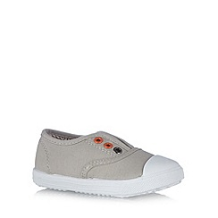bluezoo - Boy's green lace free canvas trainers