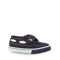 bluezoo - Boy's navy boat shoes