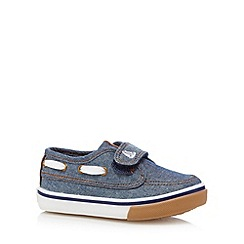 bluezoo - Boy's blue chambray boat shoes