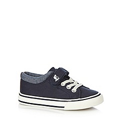 bluezoo - Boy's navy dinosaur tab shoes