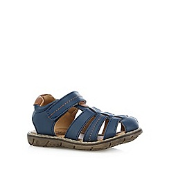 bluezoo - Boy's navy tab strap sandals