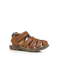bluezoo - Boy's tan tab strap sandals