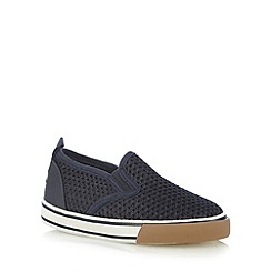 Mantaray - Boy's navy mesh slip on shoes