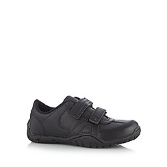 Debenhams - Boy's black rip tape trainers