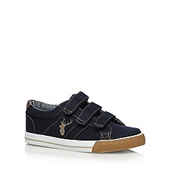 bluezoo - Boy's navy rip tape trainers