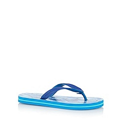 bluezoo - Boy's blue shark flip flops