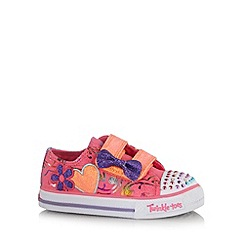 Skechers - Girl's pink heart and bow light up trainers
