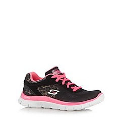 Skechers - Girl's black 'Animal Runner' trainers