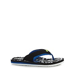 Animal - Black graphic flip flops