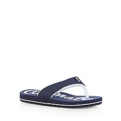 Animal - Girl's navy logo print flip flops