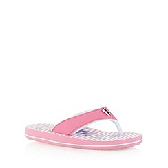 Animal - Girl's pink logo print flip flops