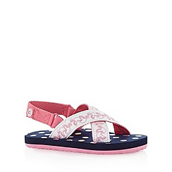 Animal - Girl's navy spotted sandals