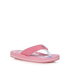 Animal - Girl's pink signature logo flip flops