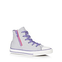 Converse - Girl's grey zipped hi-top trainers