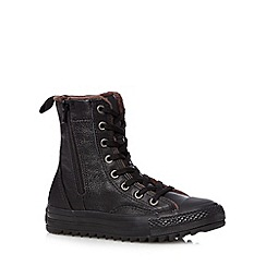 Converse - Boy's black leather zipped 'All Star' boots