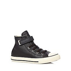 Converse - Boy's black leather tab 'All Star' hi-top trainers