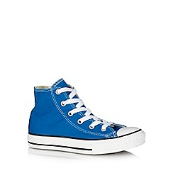 Converse - Boy's bright blue hi-top trainers