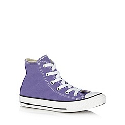 Converse - Girl's purple hi-top trainers