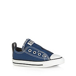 Converse - Babies dark blue lace up trainers
