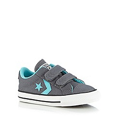 Converse - Babies dark grey star trainers