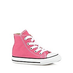 Converse - Girl's bright pink hi-top trainers
