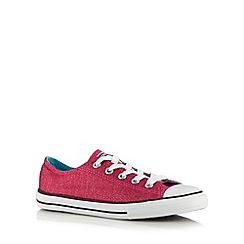 Converse - Girl's pink glitter lo-top trainers