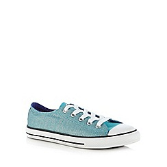 Converse - Girl's aqua glitter lace up trainers