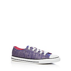 Converse - Girl's purple glitter lace up trainers
