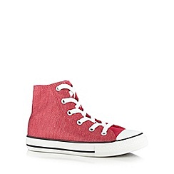 Converse - Girl's pink glitter hi-top trainers
