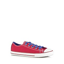 Converse - Girl's bright pink lace up trainers