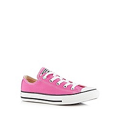 Converse - Girl's pink canvas lo-top trainers
