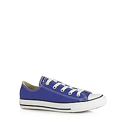 Converse - Girl's bright purple lace up trainers