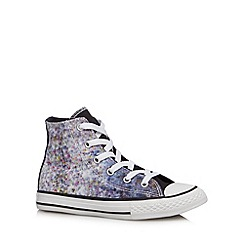 Converse - Girl's hi-top floral print trainers