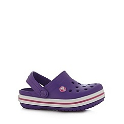 Crocs - Girl's purple punched clogs