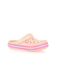 Crocs - Girl's light pink 'Crocband' clogs